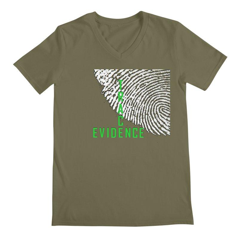 Text Logo - Green Men's Regular V-Neck by Trace Evidence - A True Crime Podcast