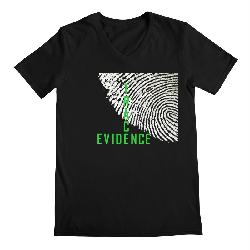 Text Logo - Green Men's Regular V-Neck by Trace Evidence - A True Crime Podcast
