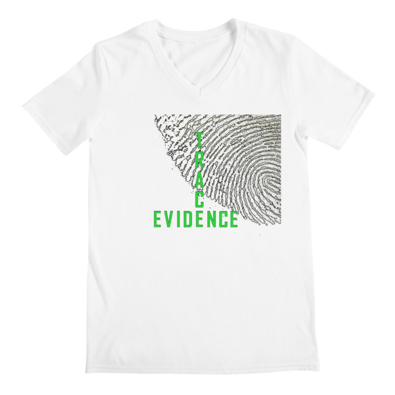 Text Logo - Green Men's V-Neck by Trace Evidence - A True Crime Podcast