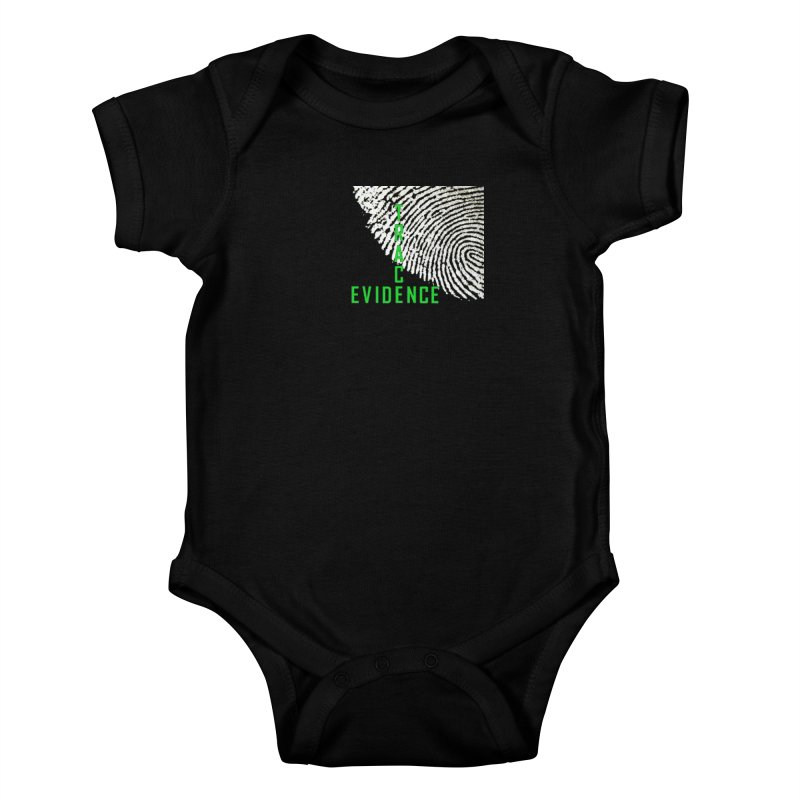 Text Logo - Green Kids Baby Bodysuit by Trace Evidence - A True Crime Podcast