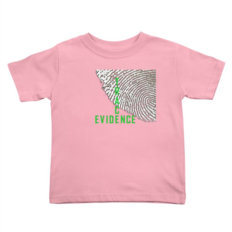 Text Logo - Green Kids Toddler T-Shirt by Trace Evidence - A True Crime Podcast