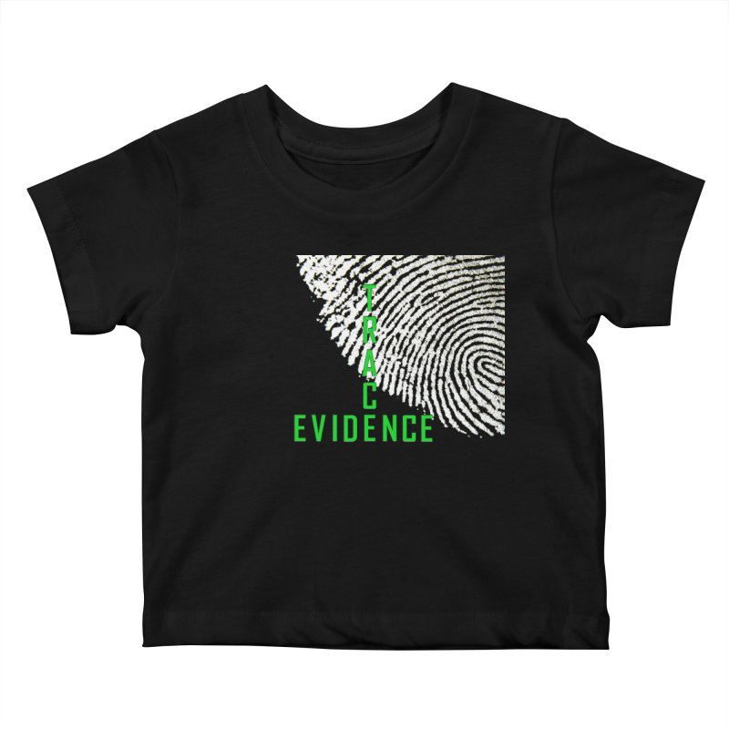 Text Logo - Green Kids Baby T-Shirt by Trace Evidence - A True Crime Podcast