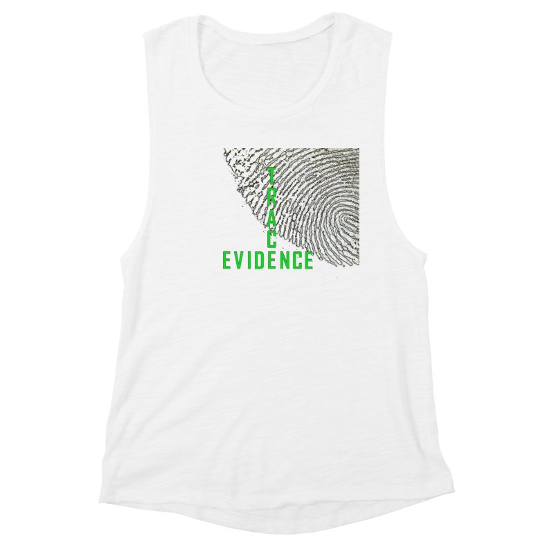 Text Logo - Green Women's Tank by Trace Evidence - A True Crime Podcast
