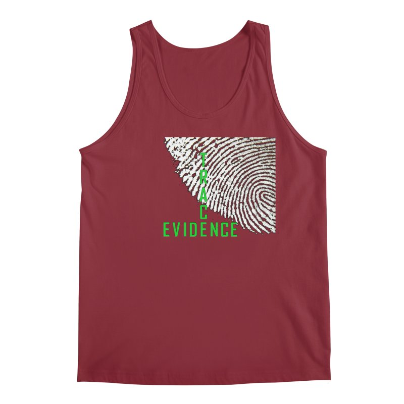 Text Logo - Green Men's Tank by Trace Evidence - A True Crime Podcast
