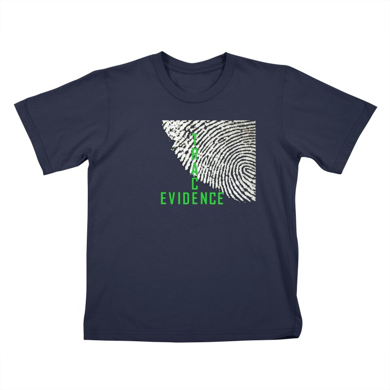 Text Logo - Green Kids T-Shirt by Trace Evidence - A True Crime Podcast