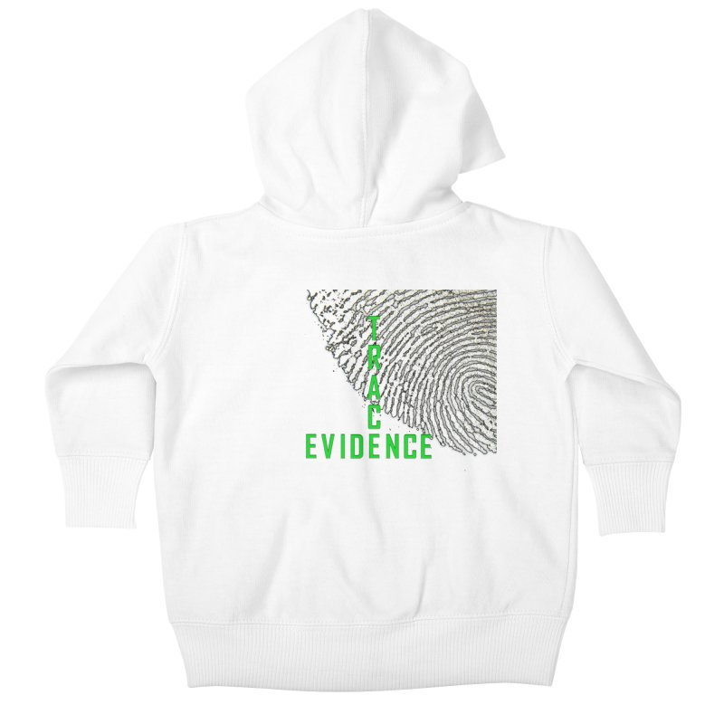 Text Logo - Green Kids Baby Zip-Up Hoody by Trace Evidence - A True Crime Podcast