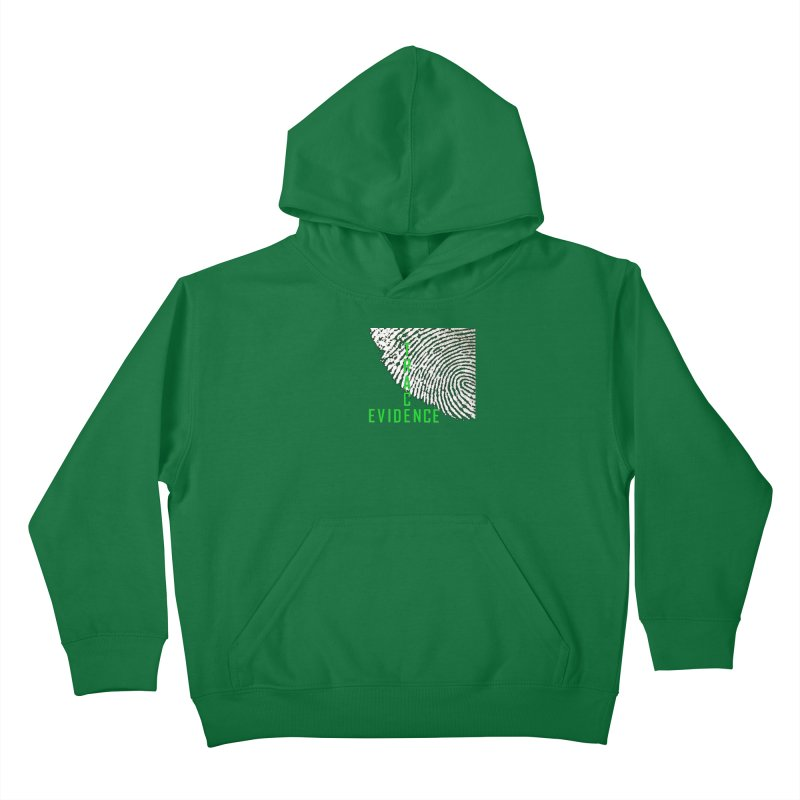 Text Logo - Green Kids Pullover Hoody by Trace Evidence - A True Crime Podcast