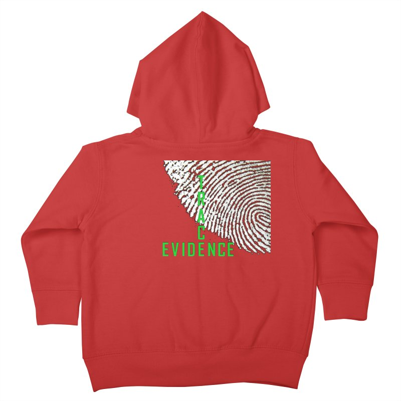 Text Logo - Green Kids Toddler Zip-Up Hoody by Trace Evidence - A True Crime Podcast