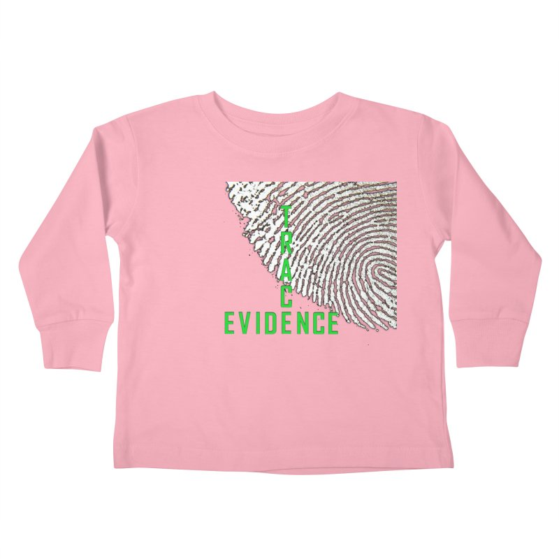 Text Logo - Green Kids Toddler Longsleeve T-Shirt by Trace Evidence - A True Crime Podcast