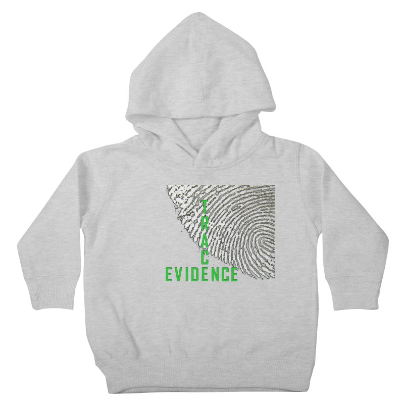 Text Logo - Green Kids Toddler Pullover Hoody by Trace Evidence - A True Crime Podcast