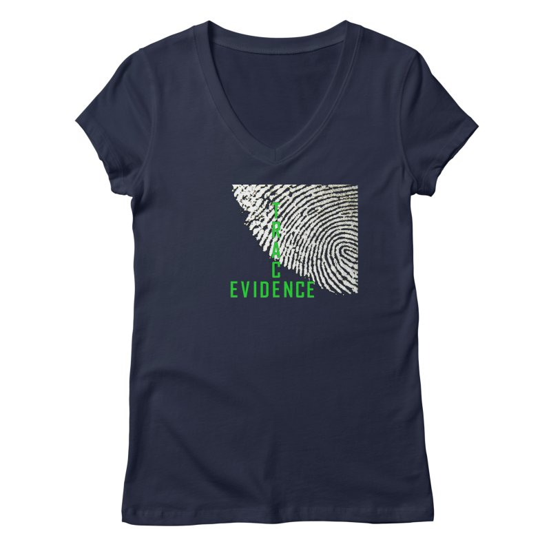 Text Logo - Green Women's Regular V-Neck by Trace Evidence - A True Crime Podcast