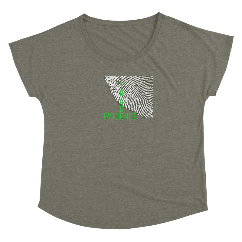Text Logo - Green Women's Dolman Scoop Neck by Trace Evidence - A True Crime Podcast