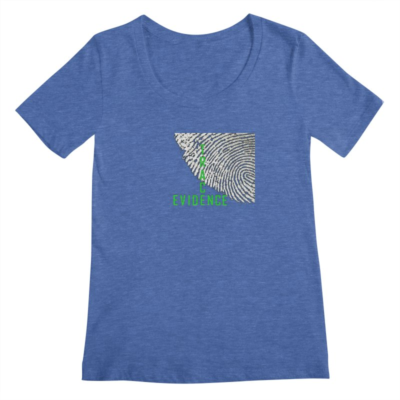 Text Logo - Green Women's Regular Scoop Neck by Trace Evidence - A True Crime Podcast