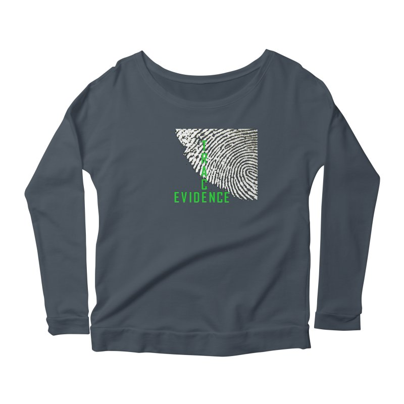 Text Logo - Green Women's Scoop Neck Longsleeve T-Shirt by Trace Evidence - A True Crime Podcast