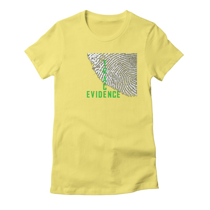 Text Logo - Green Women's Fitted T-Shirt by Trace Evidence - A True Crime Podcast