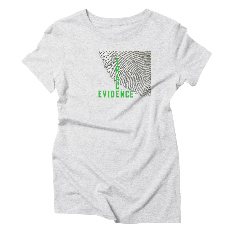 Text Logo - Green Women's Triblend T-Shirt by Trace Evidence - A True Crime Podcast