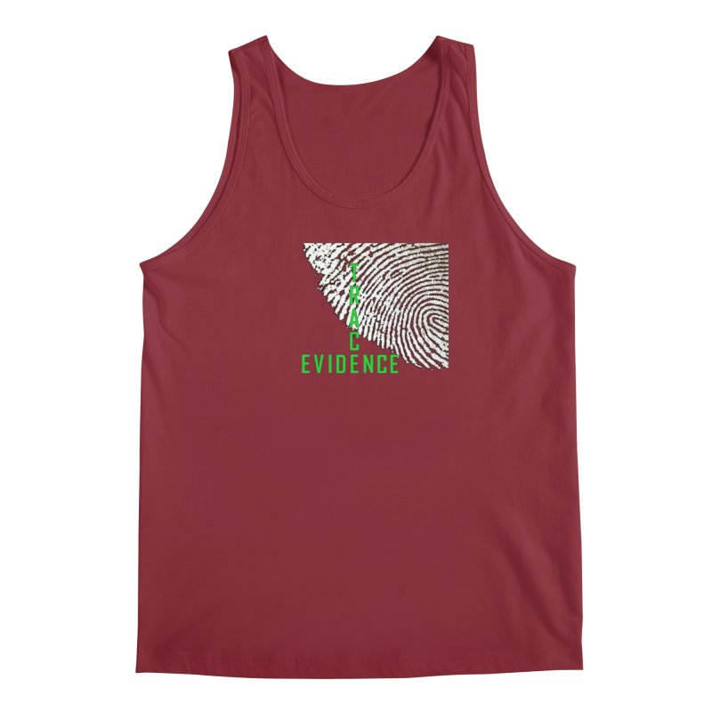 Text Logo - Green Men's Regular Tank by Trace Evidence - A True Crime Podcast