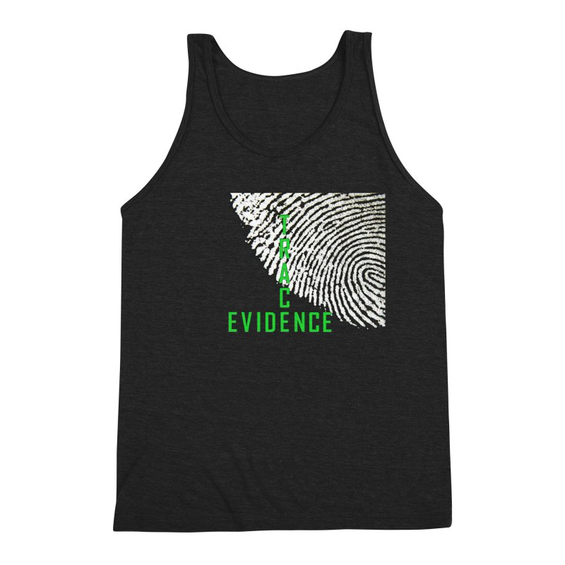 Text Logo - Green Men's Triblend Tank by Trace Evidence - A True Crime Podcast