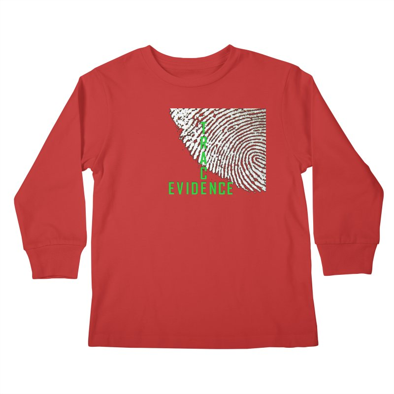 Text Logo - Green Kids Longsleeve T-Shirt by Trace Evidence - A True Crime Podcast