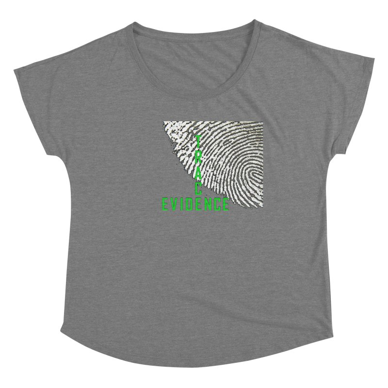 Text Logo - Green Women's Scoop Neck by Trace Evidence - A True Crime Podcast