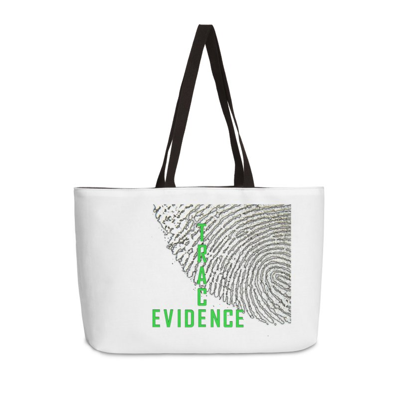 Text Logo - Green Accessories Weekender Bag Bag by Trace Evidence - A True Crime Podcast