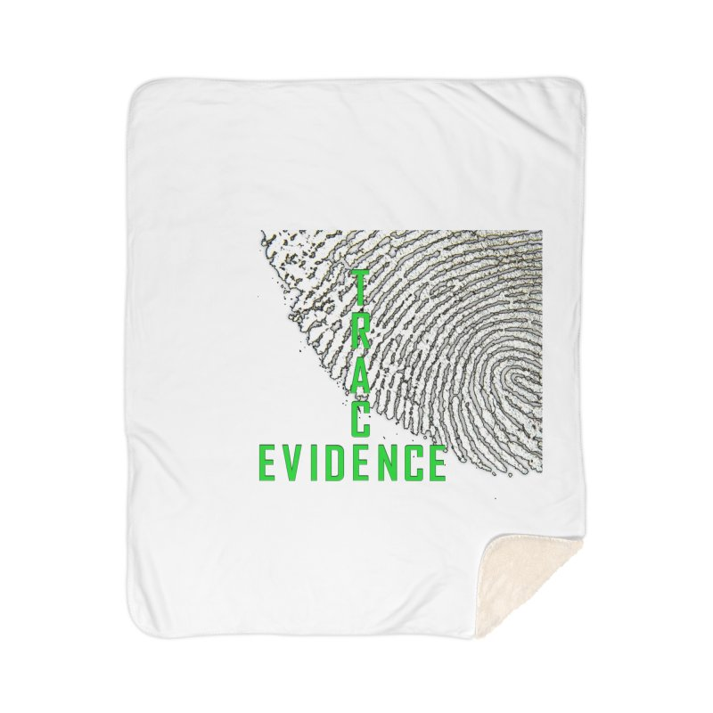 Text Logo - Green Home Sherpa Blanket Blanket by Trace Evidence - A True Crime Podcast