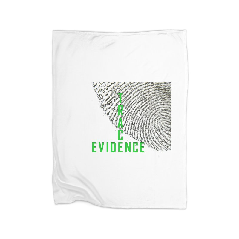 Text Logo - Green Home Fleece Blanket Blanket by Trace Evidence - A True Crime Podcast