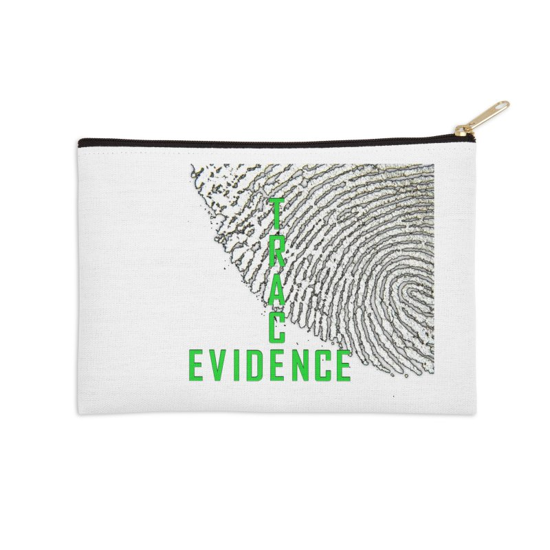 Text Logo - Green Accessories Zip Pouch by Trace Evidence - A True Crime Podcast