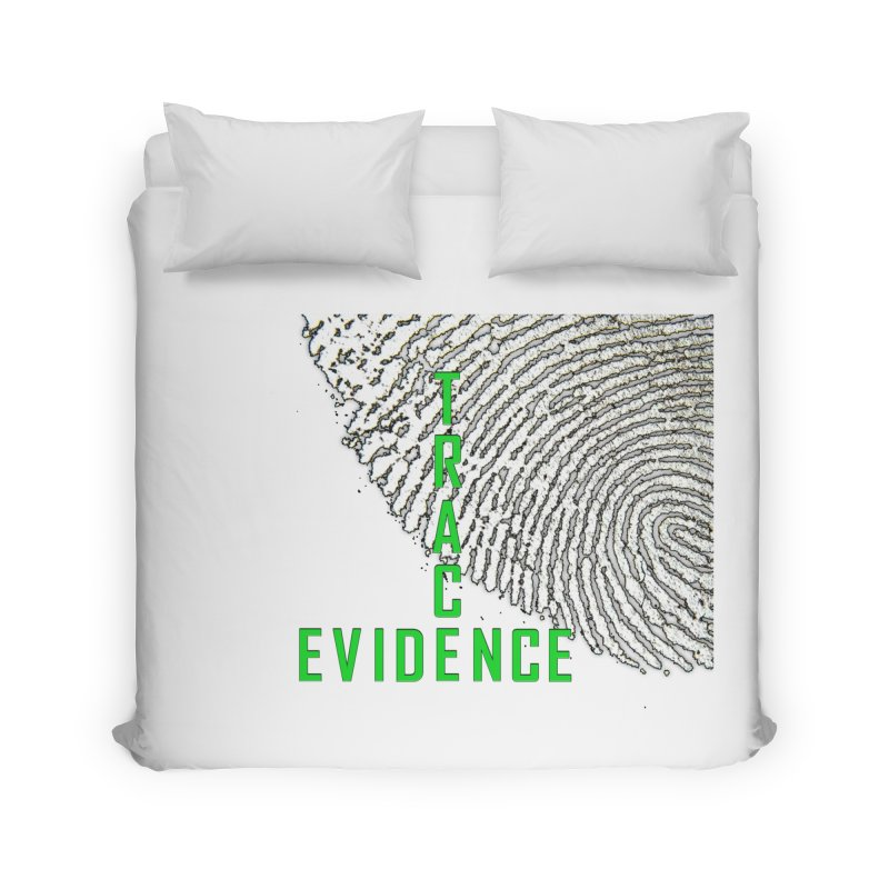 Text Logo - Green Home Duvet by Trace Evidence - A True Crime Podcast