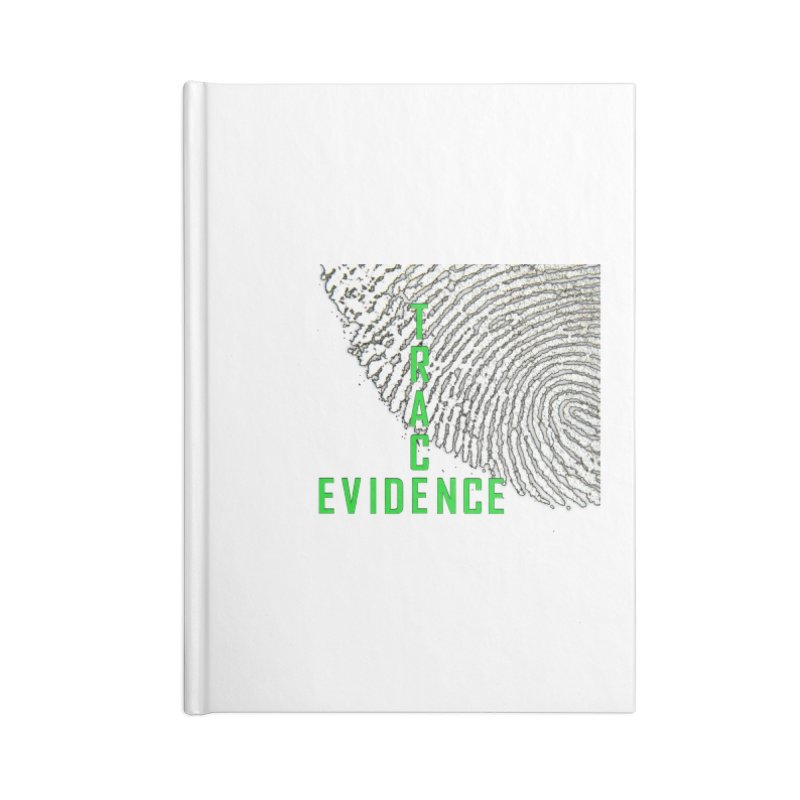 Text Logo - Green Accessories Blank Journal Notebook by Trace Evidence - A True Crime Podcast