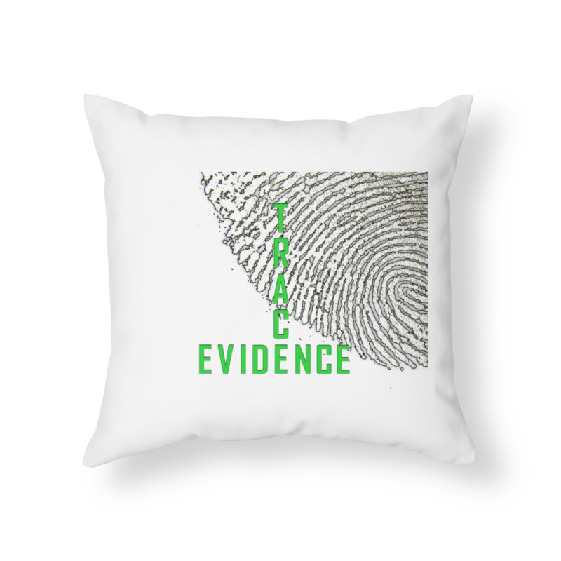 Text Logo - Green Home Throw Pillow by Trace Evidence - A True Crime Podcast