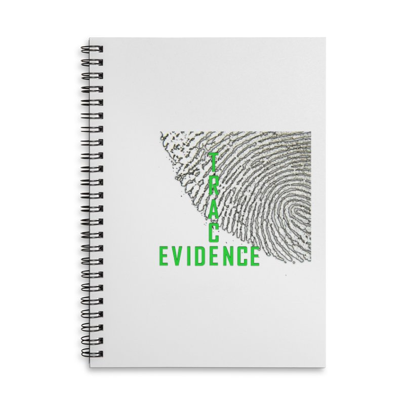 Text Logo - Green Accessories Lined Spiral Notebook by Trace Evidence - A True Crime Podcast