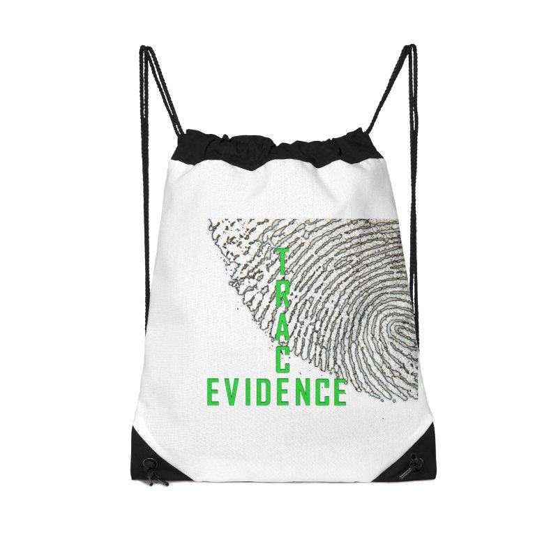Text Logo - Green Accessories Drawstring Bag Bag by Trace Evidence - A True Crime Podcast