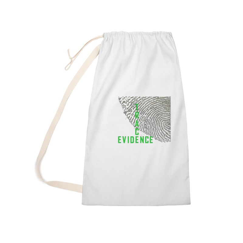 Text Logo - Green Accessories Laundry Bag Bag by Trace Evidence - A True Crime Podcast