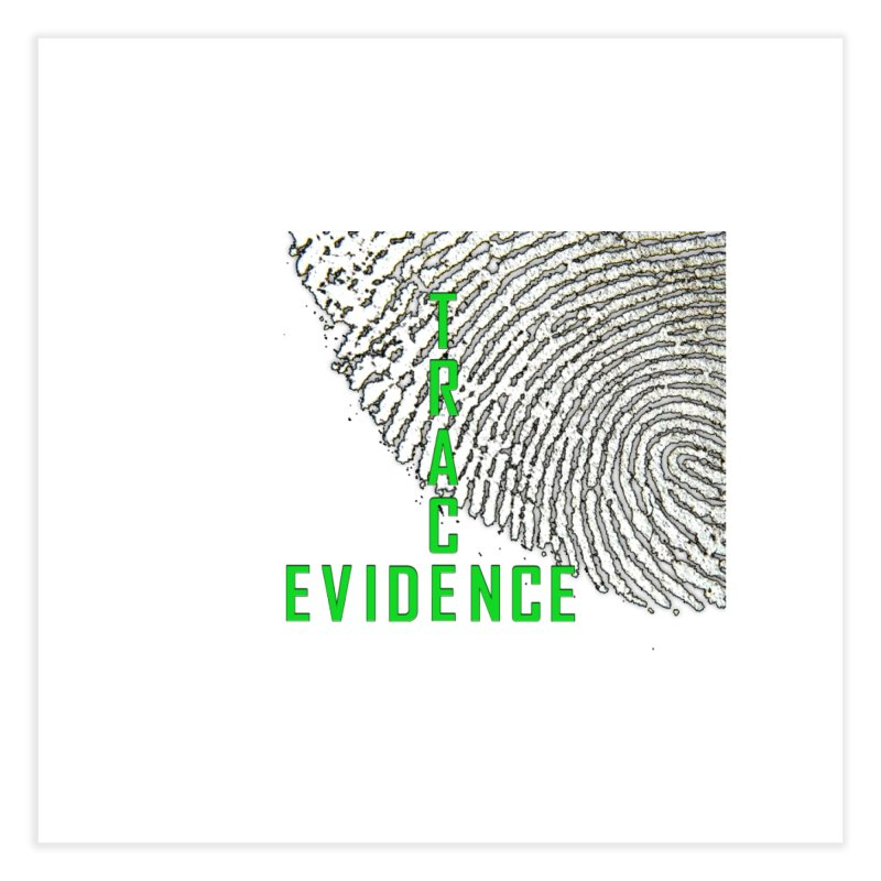 Text Logo - Green Home Fine Art Print by Trace Evidence - A True Crime Podcast