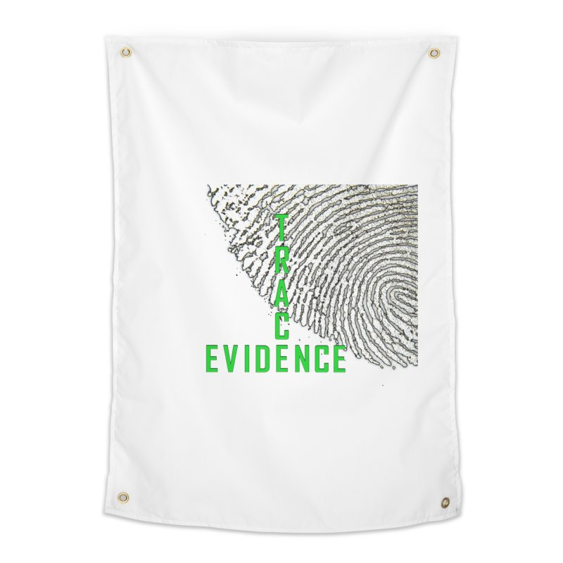 Text Logo - Green Home Tapestry by Trace Evidence - A True Crime Podcast