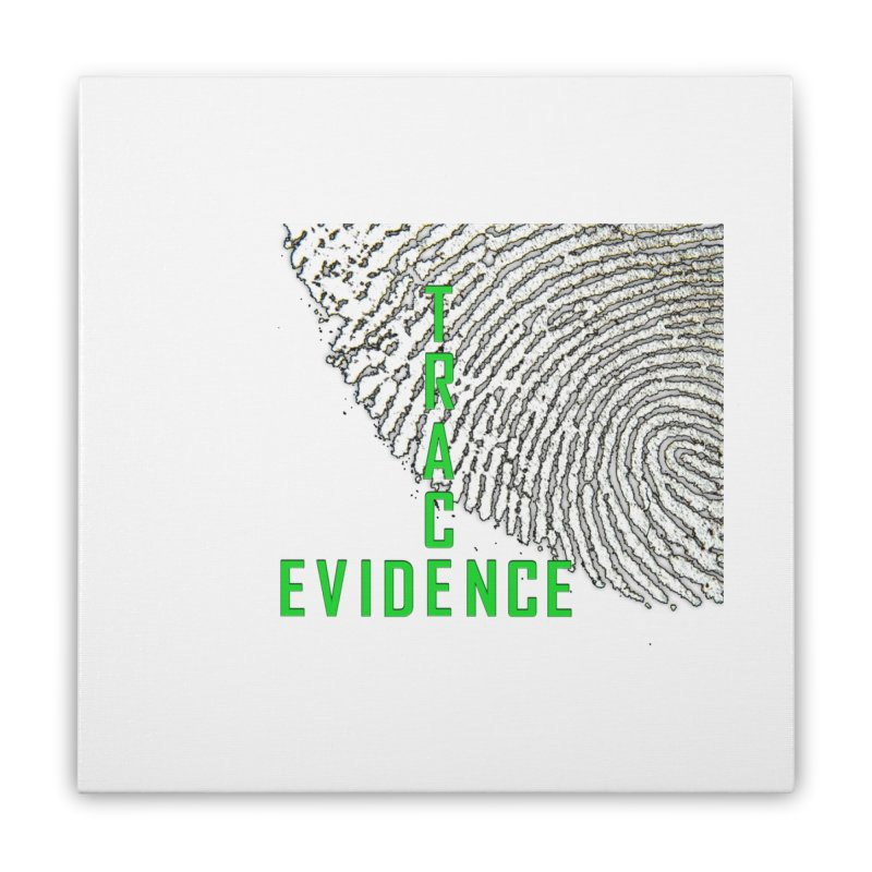 Text Logo - Green Home Stretched Canvas by Trace Evidence - A True Crime Podcast