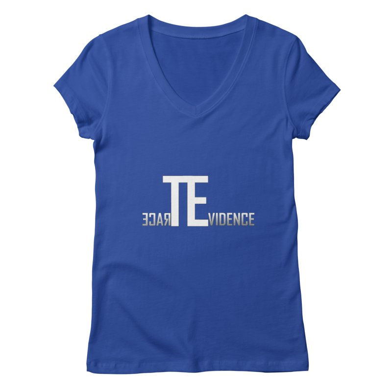 TE Podcast Women's Regular V-Neck by Trace Evidence - A True Crime Podcast