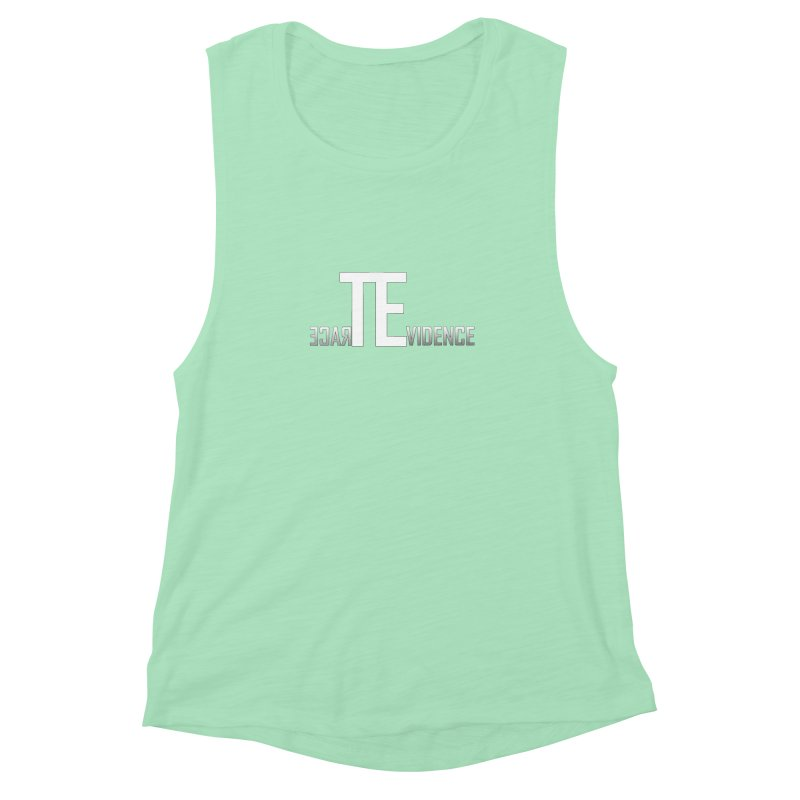 TE Podcast Women's Muscle Tank by Trace Evidence - A True Crime Podcast