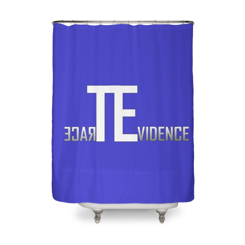 TE Podcast Home Shower Curtain by Trace Evidence - A True Crime Podcast