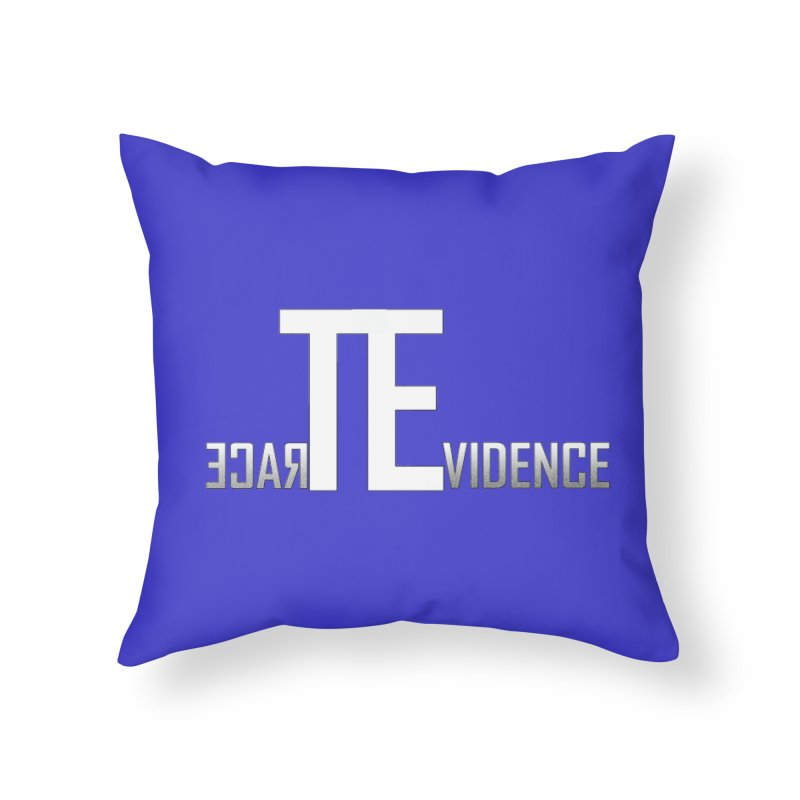 TE Podcast Home Throw Pillow by Trace Evidence - A True Crime Podcast
