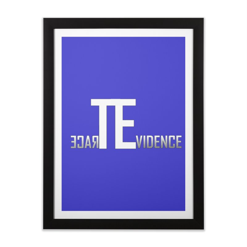 TE Podcast Home Framed Fine Art Print by Trace Evidence - A True Crime Podcast