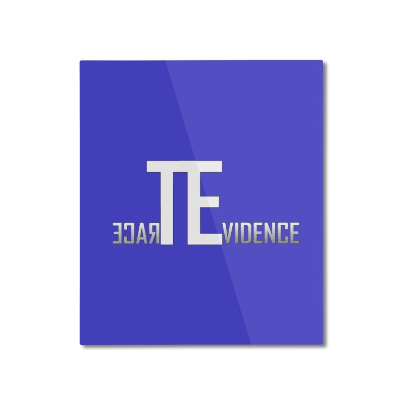 TE Podcast Home Mounted Aluminum Print by Trace Evidence - A True Crime Podcast