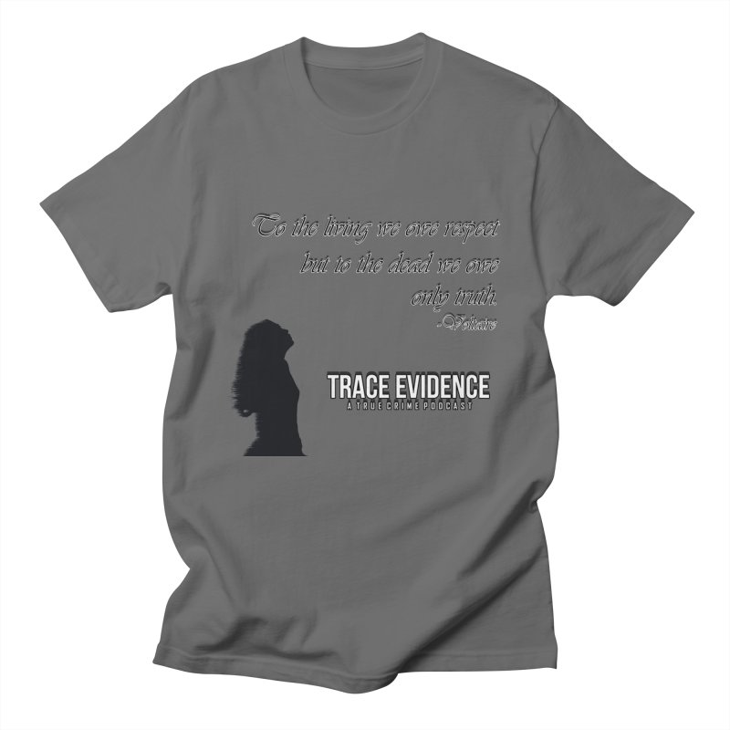 Voltaire Silhouette Men's T-Shirt by Trace Evidence - A True Crime Podcast