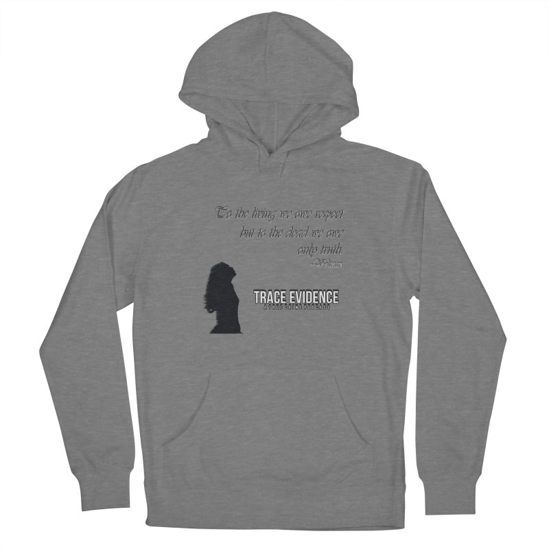 Voltaire Silhouette Women's Pullover Hoody by Trace Evidence - A True Crime Podcast