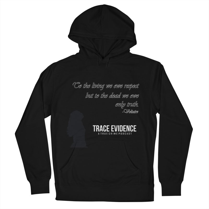 Voltaire Silhouette Women's French Terry Pullover Hoody by Trace Evidence - A True Crime Podcast