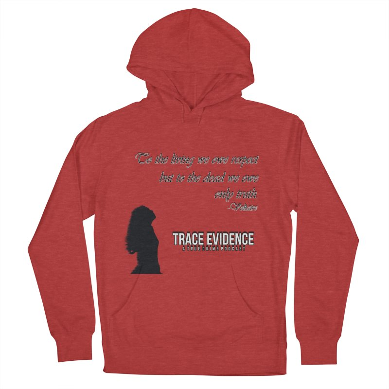 Voltaire Silhouette Men's French Terry Pullover Hoody by Trace Evidence - A True Crime Podcast