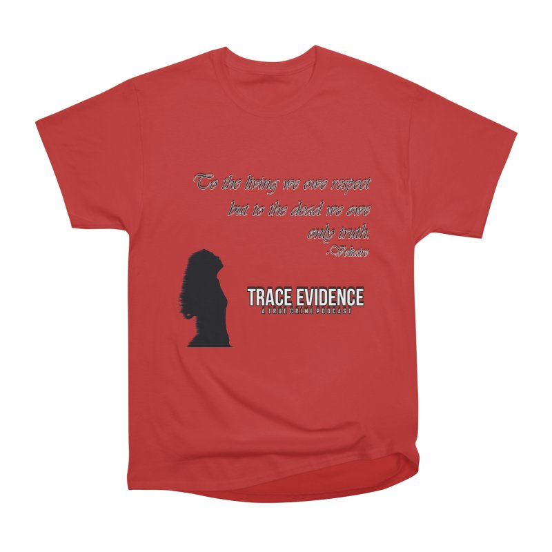 Voltaire Silhouette Men's Heavyweight T-Shirt by Trace Evidence - A True Crime Podcast