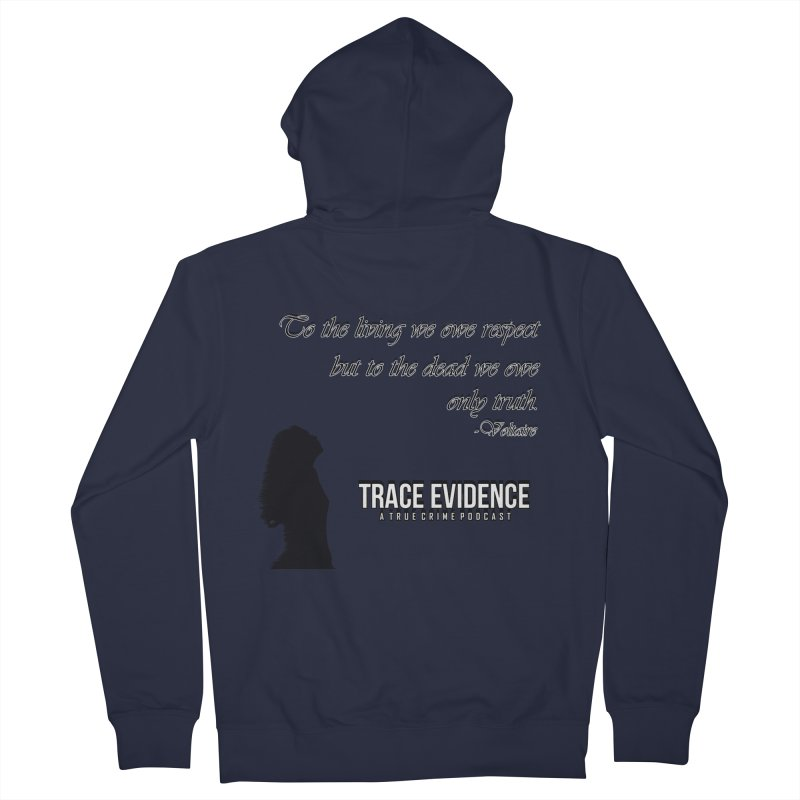 Voltaire Silhouette Women's French Terry Zip-Up Hoody by Trace Evidence - A True Crime Podcast