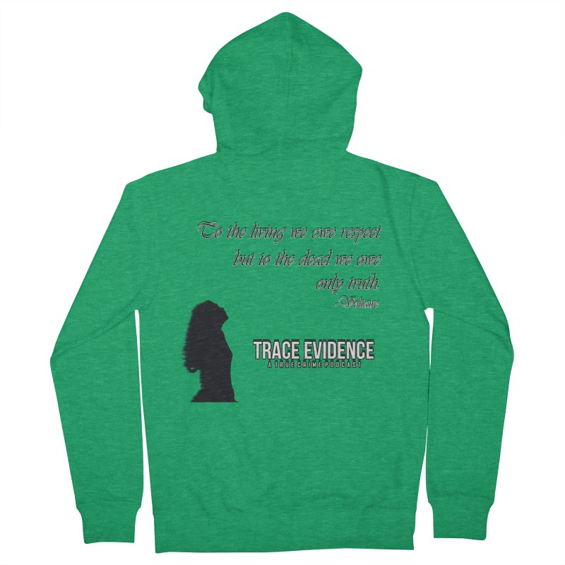 Voltaire Silhouette Men's Zip-Up Hoody by Trace Evidence - A True Crime Podcast